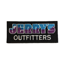 """JERRY'S OUTFITTERS"" logo patch!!  Purple×Blue"